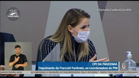 AO VIVO: Francieli Fantinato, ex-coordenadora do PNI fala hoje (08.jul.2021) na CPI