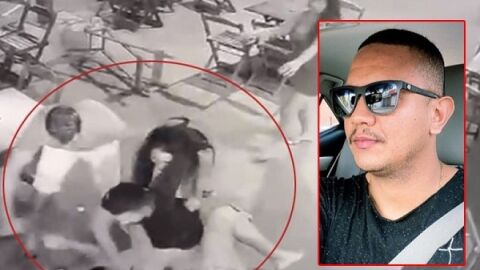 IMAGENS FORTES: PM de MT é espancado por dois até a morte com socos e chutes na cabeça