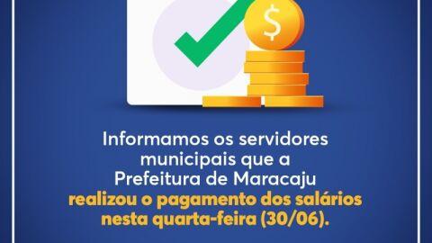 Prefeitura paga salário de servidores municipais nesta sexta-feira