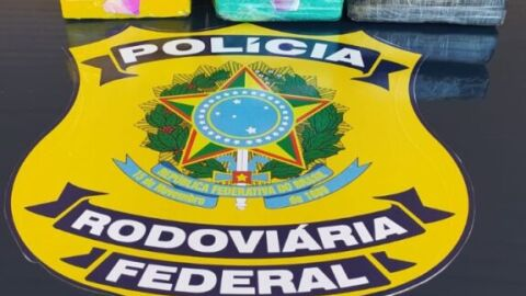 PRF apreende 7 Kg de cocaína em Miranda (MS)