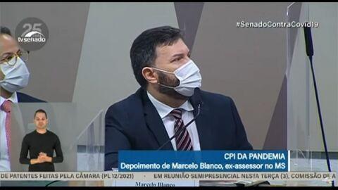 AO VIVO: Militar que era do Ministério da Saúde, Marcelo Blanco fala na CPI da Pandemia