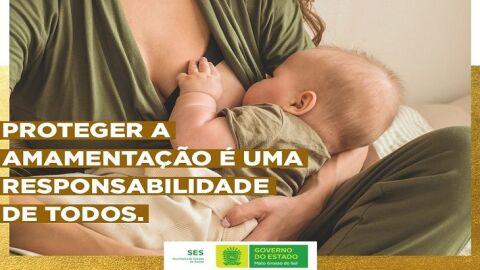 Agosto Dourado: SES reforça importância sobre o aleitamento materno em MS