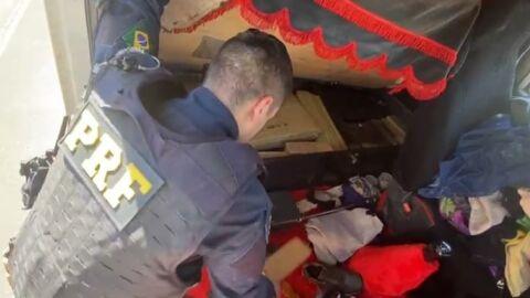 PRF apreende 291 Kg de maconha e munições em Eldorado (MS)