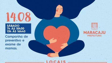 Secretaria de Saúde realiza Campanha de preventivo e exame de mamas.