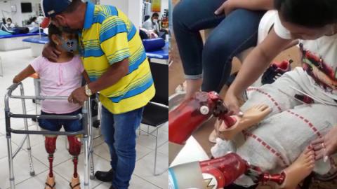 Vídeo: Raisa anda pela 1ª vez em 9 anos e até ganha 'manicure' nas próteses
