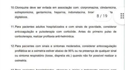 CPI tem documento de Pazuello que justifica uso de cloroquina; com base em Queiroga