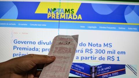 Nota MS Premiada: sorteio de R$ 300 mil de setembro tem data alterada