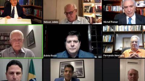 Temer, FHC e Sarney pregam pacificação e defesa da democracia em evento online