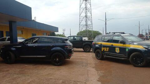 PRF recupera veículo de luxo em Ponta Porã (MS)