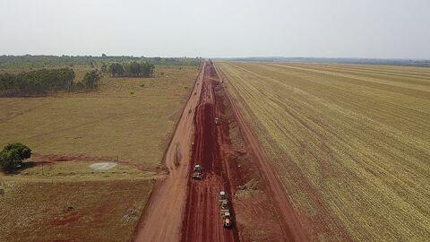 Moradores de Capão Seco veem o progresso com pavimentação da MS-258