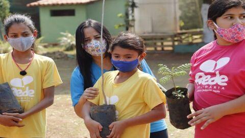 Para conscientizar sobre a importância da árvore, Rede Solidária promove plantio de mudas