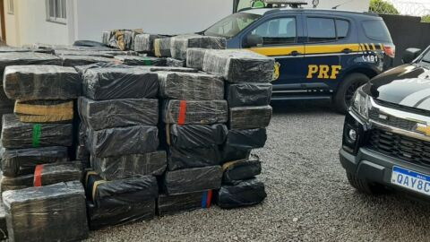PRF apreende 3,8 toneladas de maconha em Bataguassu (MS)