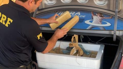 PRF apreende 37 Kg de maconha em Nova Andradina (MS)