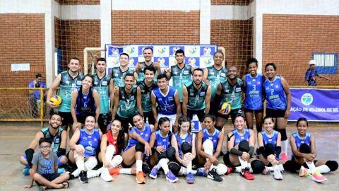 Três Lagoas é ouro na Liga de Voleibol MS no masculino e prata no feminino