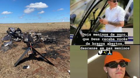 Identificados os dois homens carbonizados em queda de helicóptero