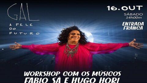Músicos da banda de Gal Costa promovem workshop gratuito no Programa Rede Solidária