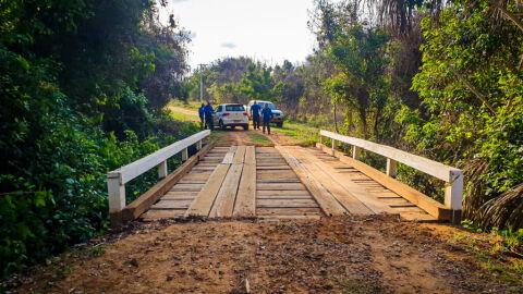 Ponte do assentamento 20 de Março é liberada após manutenção da SEINTRA
