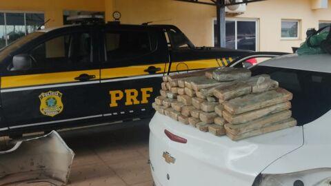 PRF apreende 61 Kg de maconha em Paranaíba (MS)