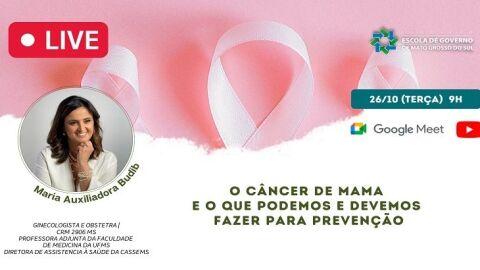 Prevenção ao Câncer de Mama é tema de live da Escolagov