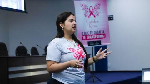 """Outubro Rosa"" da Prefeitura de Maracaju chega as colaboradoras do Legislativo"