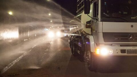 Ruas do bairro Guanandi será descontaminada hoje