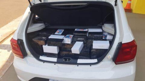 Casal perde 196 aparelhos celulares em ação da PRF com Receita Federal