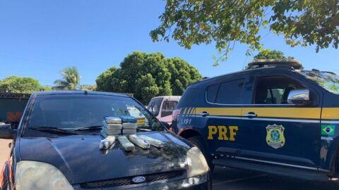 PRF apreende 9,7 Kg de cocaína em Campo Grande (MS)