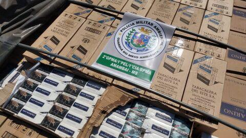 Operação Hórus: Paranaense é preso com 800 caixas de cigarros contrabandeados