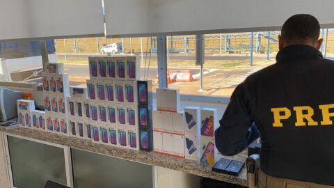 Eletrônicos sem documentação é apreendido pela PRF em Eldorado