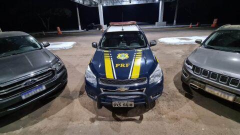 Cinco veículos são recuperados pela PRF em MS