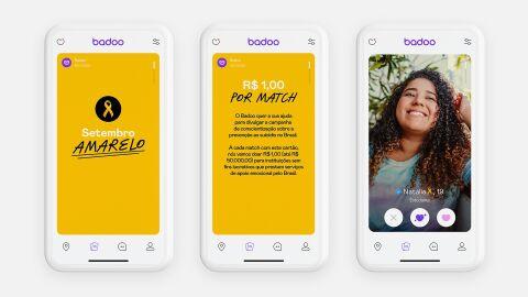 Badoo converte matchs em doação de R$ 50 mil para Setembro Amarelo