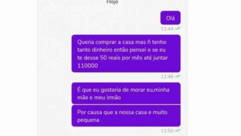 Criança tenta comprar casa de 110 mil para a família pela OLX; post viraliza