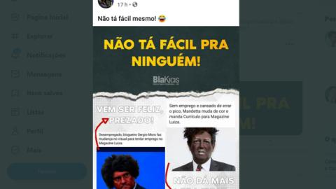 Bia Kicis faz post racista para atacar Sérgio Moro e Mandetta
