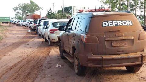 Comboio com contrabando avaliado em R$ 1 milhão é apreendido pela Defron