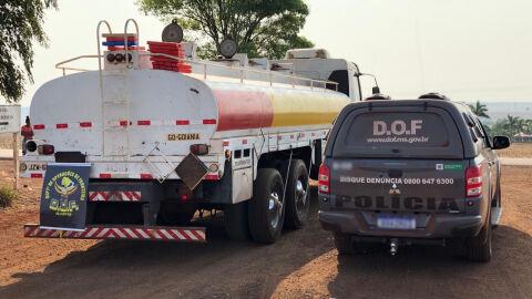 Caminhão tanque carregado com 9,6 toneladas de maconha é apreendido pelo DOF