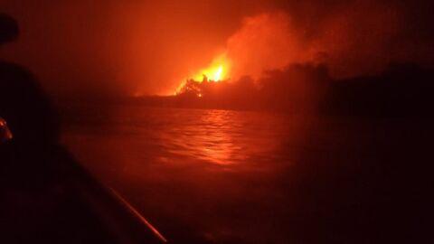 Força-tarefa conta com mais de 50 homens no combate a incêndios na Serra do Amolar