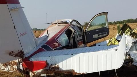 Vídeo: avião que caiu em fazenda em Camapuã era pilotado por médico