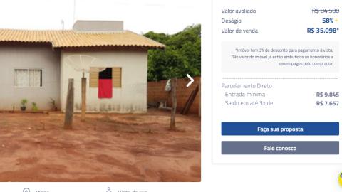 Banco do Brasil vende 700 imóveis; tem casas por até R$ 35 mil em MS