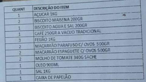 Prefeitura no interior de SP entrega cestas básicas sem arroz para famílias de alunos