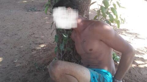 Homem ameaça ex mulher e policial militar com faca e acaba preso