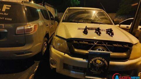 Bandidos foram mortos pela polícia após render e roubar caminhonete de família