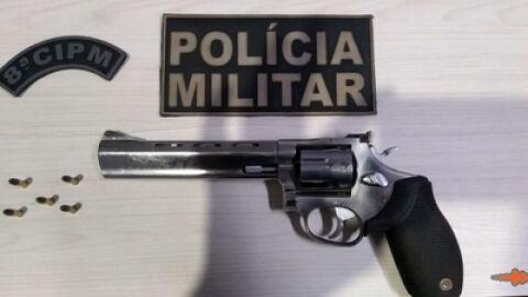 Jovem que comprou arma no Paraguai foi preso no centro de Sidrolândia
