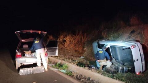 Homem é preso e dois carros foram apreendidos com maconha