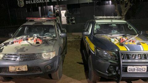 Duas pessoas foram presas tentando fugir após assalto em Ponta Porã