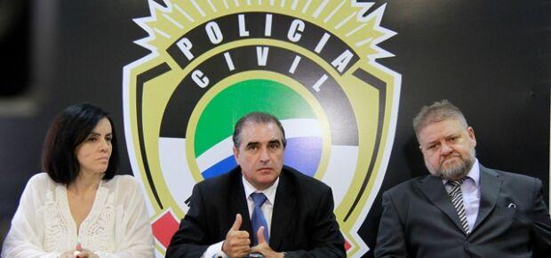 Sidnéia Catarina Tobias,Roberval Maurício Cardoso Rodrigues e Claudineis Galinari, delegados da Polícia Civil