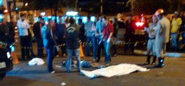 Foto enviada por um leitor do MS Notícias que passou minutos após o acidente