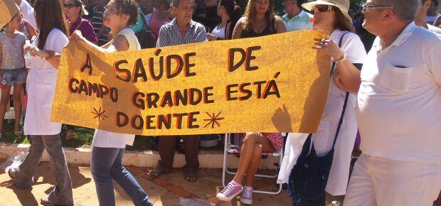 Manifestação durante a greve de maio.