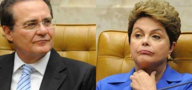 Presidente do Senado, Renan Calheiros e presidente Dilma Rousseff  -Foto: reprodução Brasil 247