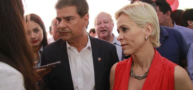 Nelsinho Trad junto com presidente nacional do PTB, Cristiane Brasil.Foto: Wanderson Lara