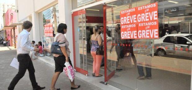 Em Campo Grande 95% das agências bancárias estão fechadas. (Foto: SindicárioNet/ Divulgação)